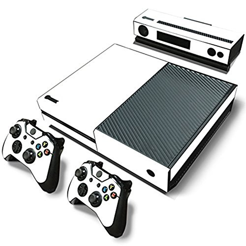 Price comparison product image DOTBUY Vinyl Decal Full Body Skin Sticker For Microsoft Xbox One Console And 2 Controllers And Kinect 2.0 (All White)