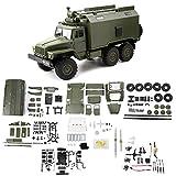 huyiko WPL B36 1:16 RC Auto 2,4G 6WD Militär LKW Rock Crawler Befehl Kommunikation Fahrzeug Kit DIY Spielzeug Für Jungen