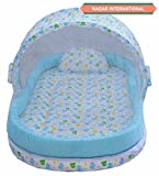 #7: Nagar International Mattress With Mosquito Net And Bumper Guard (Blue) For 0-2 Years Baby