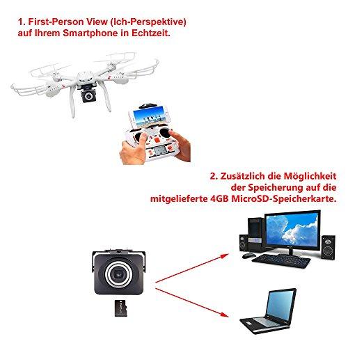 MJX C4008 HD Action Cam FPV Live Übertragung WIFI 720p HD-Kamera-Set auf Smartphone/Tablet für Mjx Quadrocopter X101,X102,X600 - 4