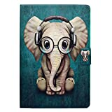 Lspcase iPad Mini 5 Case, Custodia iPad Mini, Cover a Portafoglio in Morbida Pelle PU per Apple iPad Mini 1/2/3/4/5 con Funzione Sleep/Wake Auto,Carte di Slot e Porte-stylo - Elefante Bambino