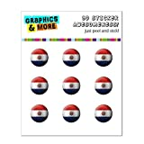 Drapeau du Paraguay de football Soccer Ball Futbol Home Button Stickers pour Apple...