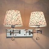 Dimmbare LED-Wandleuchte, Teleskop-Band-Schalter Leselampe, Schlauch-Rocker-Lampe, stilvolle Schlafzimmer-Nachttischlampe ( Farbe : B1 )