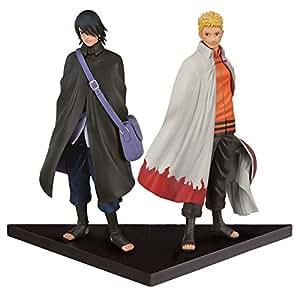 Banpresto - Figurine Naruto Shinobi - Naruto & Sasuke 25cm - 3296580332267