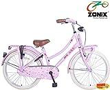 Zonix Mädchen Hollandrad Rosa / Design 24 Zoll mit Frontträger