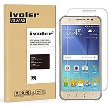 Samsung Galaxy J5 Protector de Pantalla Cristal, iVoler® Film Protector de Pantalla de Vidrio Templado Tempered Glass Screen Protector para Samsung Galaxy J5 SM-J500H -Dureza de Grado 9H, Espesor 0,20 mm, 2.5D Round Edge-[Ultra-trasparente] [Anti-golpe] [Ajuste Perfecto] [No hay Burbujas]- Garantía Incondicional de 18 Meses