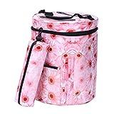 uarter–Bolso organizador para tejer Premium impermeable grande organizador de almacenamiento de hilo para tejer y tejer rosa