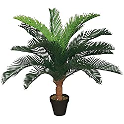 Best Artificial 75 cm 2,5 ft Fern Plant, Garten Büro Wintergarten Tropical Indoor Outdoor Baum