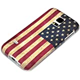 deinPhone Samsung Galaxy S5 Mini SILIKON CASE Hülle Retro Flagge USA