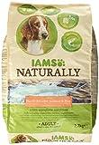 Iams Naturally Hund Lachs (Trockenfutter für Erwachsene Hunde mit viel Nordatlantischem Lachs und Reis), 2700 g