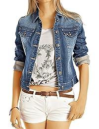 Bestyledberlin Damen Jeansjacke, Taillierte Denim Jacke, Skinny Fit Blouson ja60p