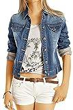 Bestyledberlin Damen Jeansjacke, Taillierte Denim Jacke, Skinny Fit Blouson ja60p L