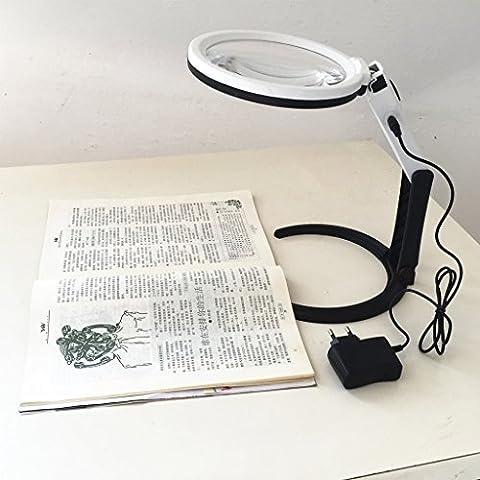 Desk Lamp Lente d'ingrandimento con 1,8X e 5X Magnifier 130 Millimetri con 12 Luci a LED