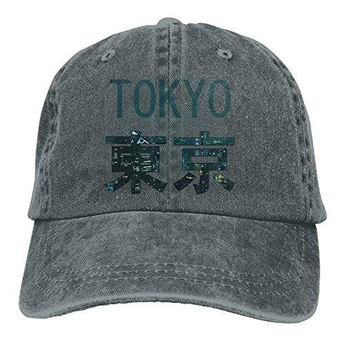 Baseballmützen/Mütze Trucker Cap Tokyo City Beautiful Trend Printing Cowboy Hat Fashion Baseball Cap for Men and Women Black