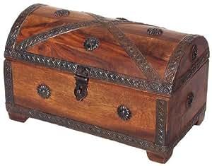 Petit Coffre au Trésor (18x11x11cm) - Pirates Coffre de Trésor - Baguier