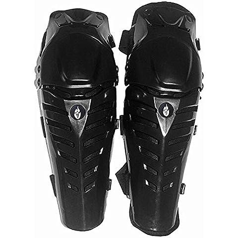 Moto Rodilleras Protectores Caballero al Aire Libre a Campo Través Resistente Rodilleras Negro