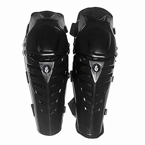 Professionale Motocross Nero Ginocchiere Knee Brace Protector Guardie Protective Gear Moto e moto ciclismo ginocchio ginocchiera ginocchiere moto protettiva taglia unica