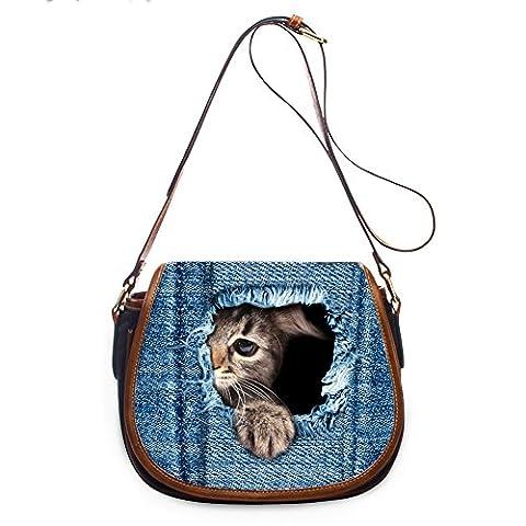 Coloranimal , Sac bandoulière pour femme bleu cat2