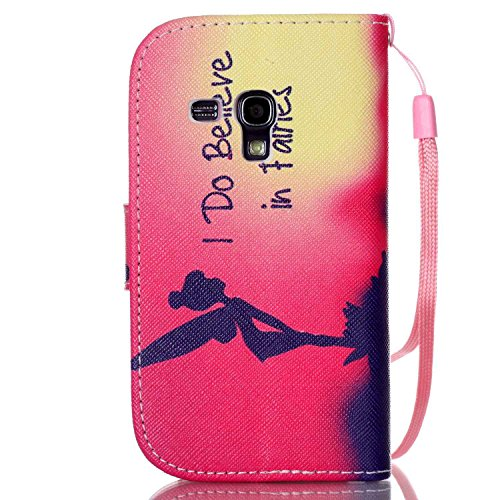 Meet de Samsung Galaxy S3 mini I8190 Bookstyle Étui Housse étui coque Case Cover smart flip cuir Case à rabat pour Galaxy S3 mini I8190 Coque de protection Portefeuille - this iphone is locked slide t I Do Believe in Fairies