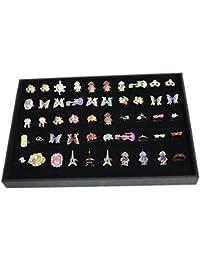 Primi utile 100emplacements Grille Bague Boucles d'oreilles Broche Stockage Affichage Plateau de bijoux Coque