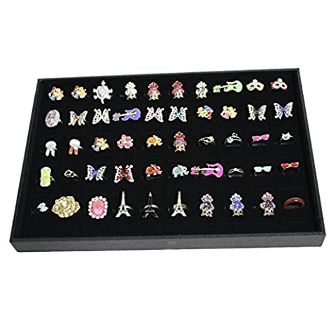 MaltonYO17 100 Slots Grid Ring Earring Ear Pin Brooch Storage Display Boxes Tray Jewelry Organizer Holder Case