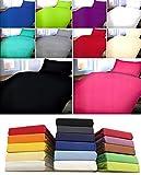 Leonado Vicenti 3 tlg. Microfaser Bettwäsche 135 x 200 UNI Einfarbig Set mit passendem Spannbettlaken 100x200cm, Colour:Blau, Maße:3 tlg. 135x200 cm + 80x80 cm + 100x200 cm