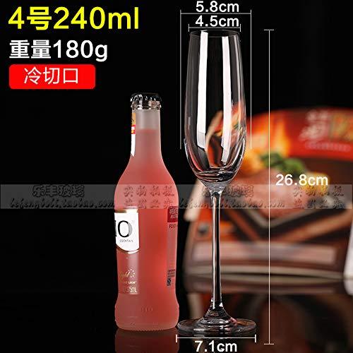 Luxury glass Sechs Kristall-Champagnergläser, Hohe Gläser, Rotweingläser, Kreative Cocktailgläser, Wein-Boudoir-Gläser, Bubble-Gläser Für Den Hausgebrauch, Champagnerbecher Nr.4 240Ml -
