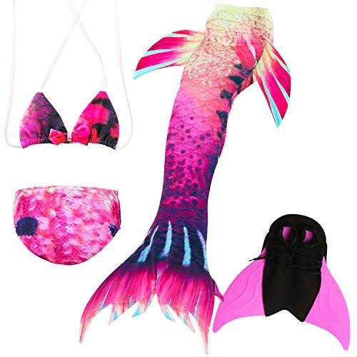 ikini Badeanzüge Schönere Meerjungfrauenschwanz zum Schwimmen mit Meerjungfrau Flosse Schwimmen Kostüm Schwanzflosse - EIN Mädchentraum ()