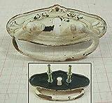 Lafinesse Möbelgriff Schubladengriff mit Schlüsselloch Shabby Antik Creme