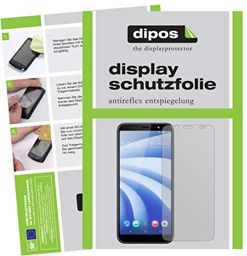 dipos I 2X Schutzfolie matt passend für HTC U12 Life Folie Bildschirmschutzfolie