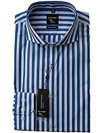 suchergebnis auf f r blau weiss gestreift blau hemden herren bekleidung. Black Bedroom Furniture Sets. Home Design Ideas