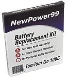 Kit de Remplacement de Batterie pour TomTom Go 1005 Série (Go 1005, Go 1005 LIVE) GPS avec Vidéo d'Installation, Outils, et Batterie longue durée.