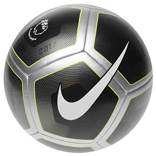Nike - Balón de fútbol de la Liga premiere 2017, pelota de fútbol negro/plata, tamaño 5.