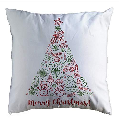 Zfkdsd federa natalizia glitter in cotone soffice per cuscino copriletto 45x45cm in cotone lino natalizio cuscino prodotto decorativo per la casa