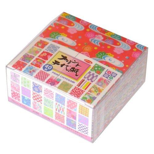 Origami-Papier - Origami-Papier gemustert Set (Chiyogami) - Print Chiyogami - 40 Muster sortiert - 13 Blätter pro Muster - 520 Blatt - 7,5cm x 7,5cm