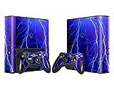 XBOX 360 E Skin Design Foils Aufkleber Schutzfolie Set - Lightning Motiv