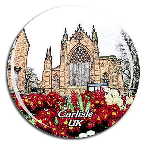 Weekino Großbritannien England Carlisle Cathedral Kühlschrankmagnet 3D Kristallglas Touristische Stadtreise City Souvenir Collection Geschenk Starker Kühlschrank Aufkleber Carlisle Collection