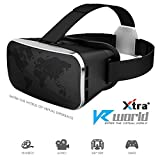 #2: XTRA VR BOX 3.0 Virtual Reality 3D Glasses Fully Adjustable VR Glasses - VR Headset For VR Video Gaming, Movies, Pictures - Compatible With All 4.7