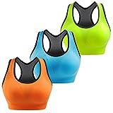 Libella Sport-BH Damen Bustier Gepolsterter Push Up Ohne Bügel Sport Bra Fitness Sporttop 3765 UN2 L/XL