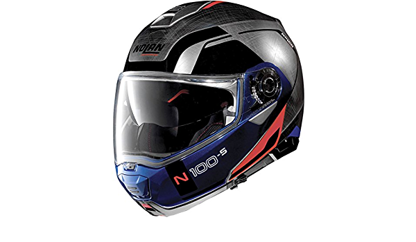 Nolan N100 5 Consistency N Com Klapphelm L 60 Blau Silber N150003930291 Schwarz Silber Blau L 60 61 Auto