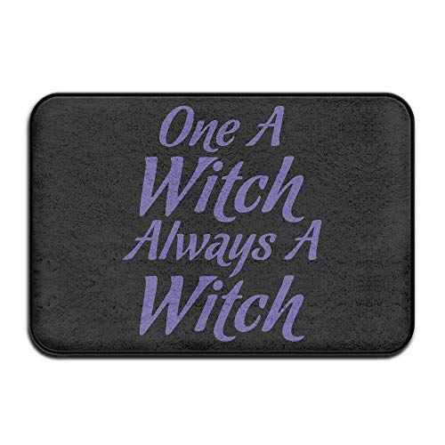 ZHIZIQIU Once A Witch Always A Witch Halloween-2 Non Slip Entrance Door Mats Kitchen Rug (Halloween Loofahs Für)