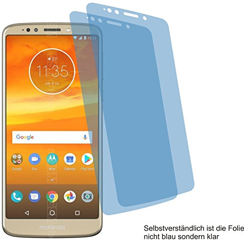 4ProTec 2X Crystal Clear klar Schutzfolie für Motorola Moto E5 Plus Bildschirmschutzfolie Displayschutzfolie Schutzhülle Bildschirmschutz Bildschirmfolie Folie