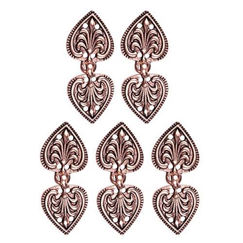 en Schliesse Schürzen Dirndl Schnalle Blätter Design Verschluss Metall für Stickjacke Cardigan Umhang Mantel Copper A One Size ()