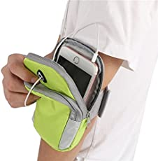 Avisa Global Waterproof Sport Armband Unisex Running Jogging Gym Arm Band Case Cover for Mobile iPhone 6s 6 Plus Phones Below 6 Inches (Green)