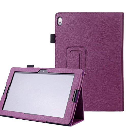 Tasche für Lenovo IdeaTab A10-70 10.1 Zoll Schutz Hülle Flip Tablet Cover Case A7600-H F L (Lila) NEU