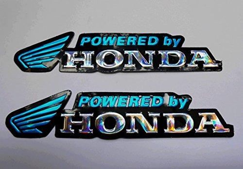 3D blue / chrome HONDA stickers decals Adhesivo -
