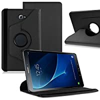 Samsung Galaxy Tab E 9.6 (T560 / T561), Leather Wallet flip cover,back stand cover,Full Body protection tablet cover by Kamal StarŽ (Plain Black)