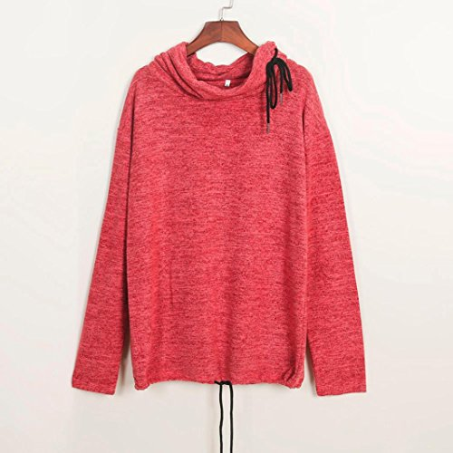 Bonjouree Pull Femme Hiver Chic Cachemire Chemisier Manches Longues Rouge