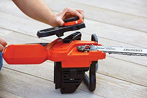 Black+Decker Li Ion Akku Kettensäge 36V GKC3630L20 mit Akku und Ladegerät/Ideal für Holz- & Gartenarbeiten/30 cm Schwertlänge - 8