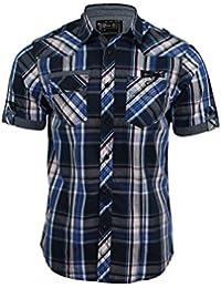 Chemise pour homme 'Guerrero' à carreaux et manches courtes de Dissident